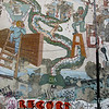 "Famous mural depicting the CIA as a snake biting a Nicaraguan hand at the ballot box, despite the Sandinistas' effforts at reconstruction and other projects following their takeover in 1979. In the early 1980s, under Reagan and his illegally armed Contras (which he called ""freedom fighters"" and supported to counter the Sandinistas), the CIA was involved in several damaging attacks on the Nicaraguan economy and infrastructure."