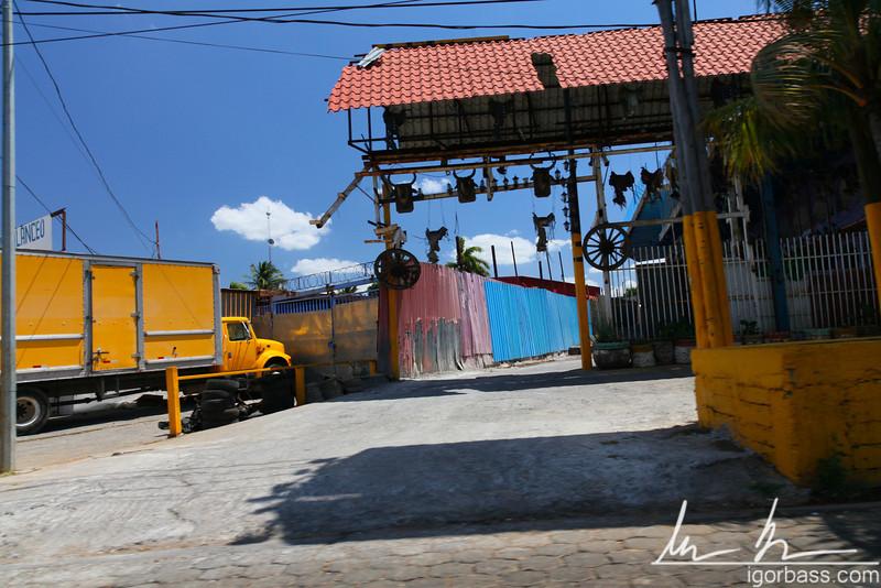 Decorated driveway, Managua