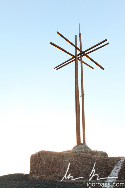 The Cruz de Bobadilla, originally erected by Franciscan Padre, Francisco Bobadilla, to help exorcise the devil's evil spirit from the volcanic crater, Masaya Volcano National Park