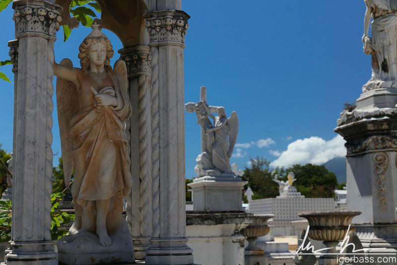 Graveside monuments, Grenada cemetery