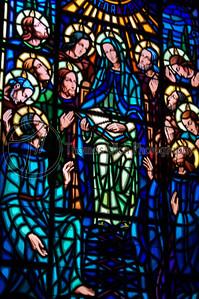 This is stained glass window inside of la Iglesia de la Merced. Granada, Nicaragua.