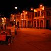 Night scene in the Plaza Central, Granada