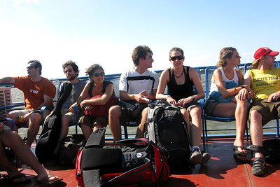 The backpacker crowd heads to Ometepe.
