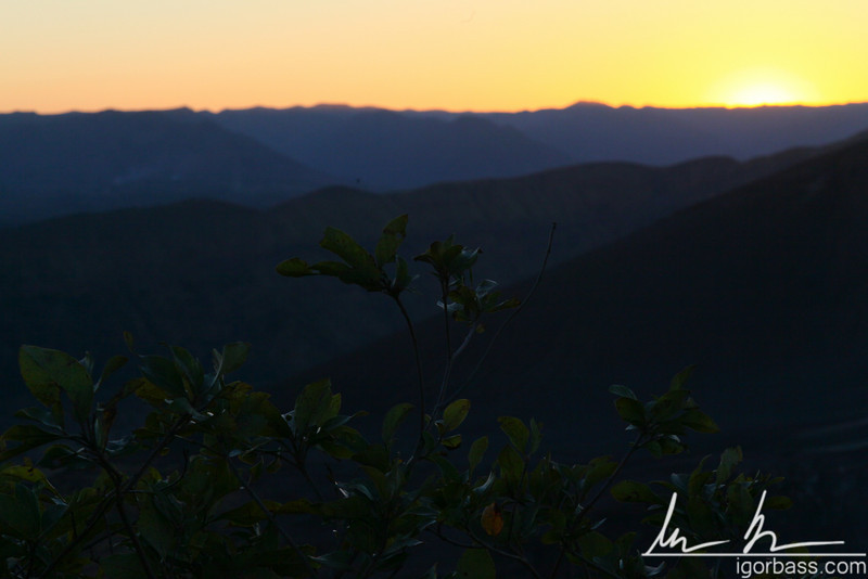 Sunset over Masaya volcano, Masaya Volcano National Park