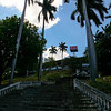 Palm lined staircase leading up Tiscapa hill, Parque Histórico Nacional Loma de Tiscapa, Managua