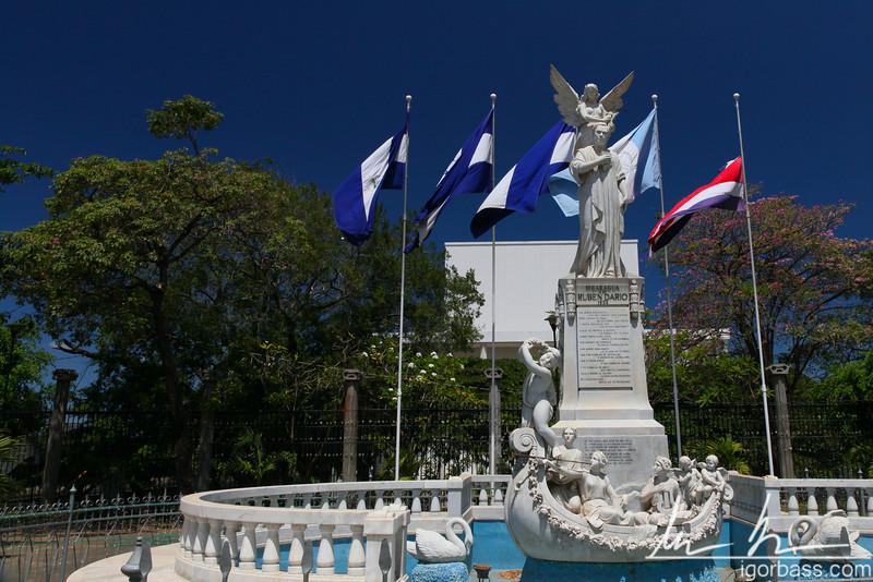 Memorial in the Rubén Darío park, dedicated to Nicaragua's national poet. Managua