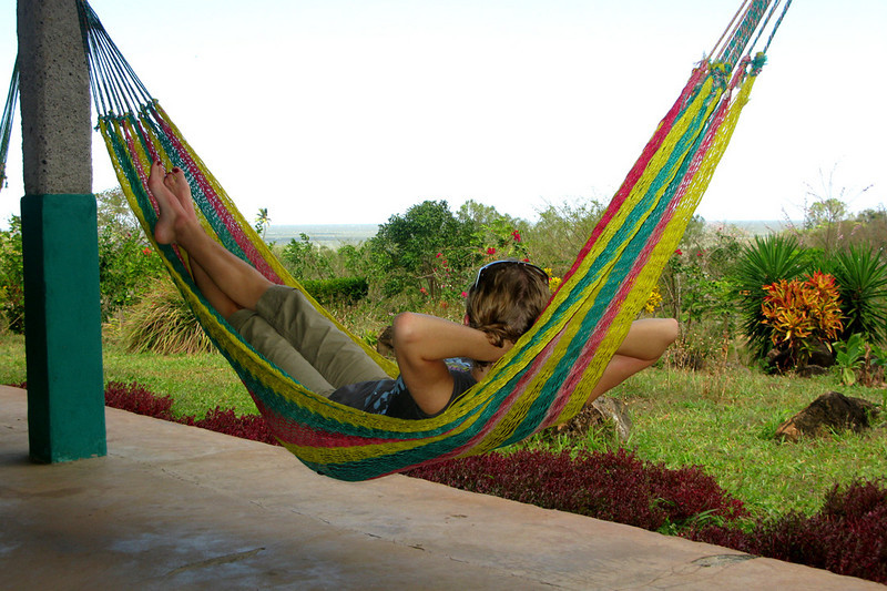 Hammock shot #3: my turn. We were situated on a slight rise, so had breezy views of Lake Nicaragua.