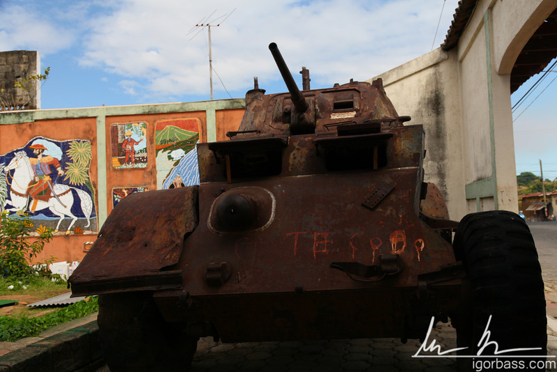 A tank at the museum of myths and legends (in a converted prison), Leon