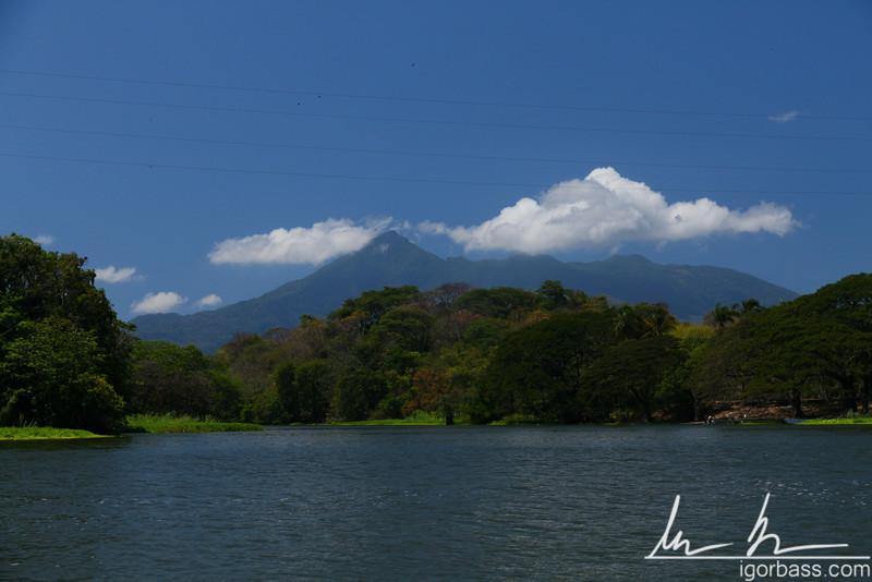 Volcan Mombacho, viewed from the Isletas de Granada