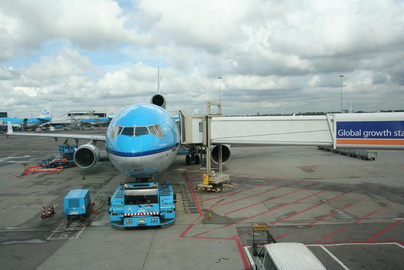 Unser Flugzeug (MD 11) von Amsterdam nach Panama.