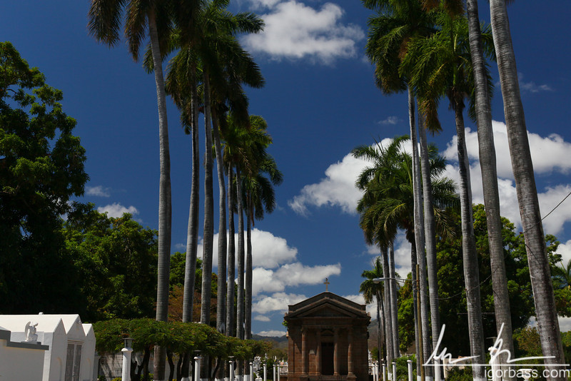Granada cemetery, an above ground cemetery, and the oldest cemetery in Central America, Granada