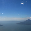 View of Lago Xolotlan (a.k.a. Lake Nicaragua) from airplane, just before landing.