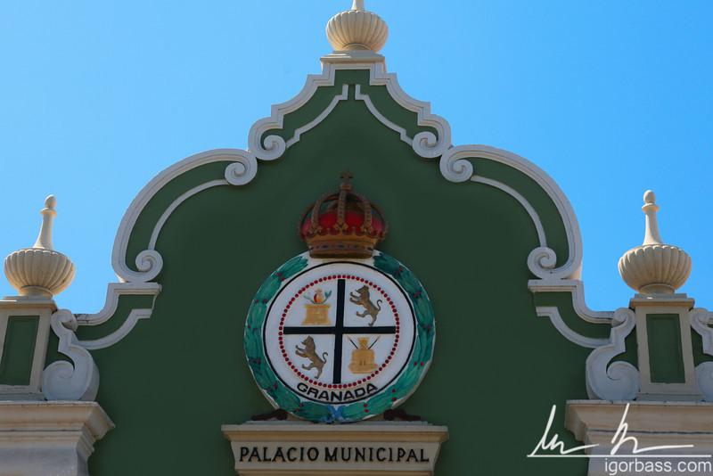 Palacio Municipal detail, Granada