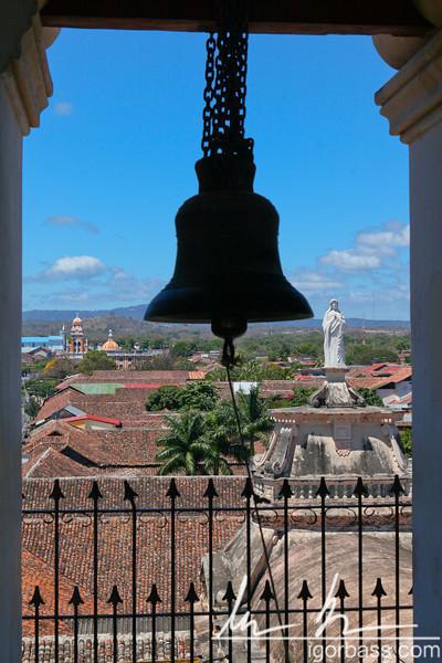 View from bell tower, La Merced Church, Granada