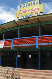 Granada's baseball stadium. It turned out that the Granada Tiburones (Sharks) played on my birthday.