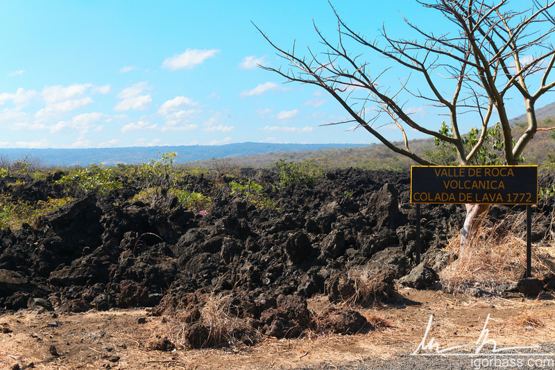 Lava from the volcanic eruption of the Masaya volcano in 1772, Masaya Volcano National Park
