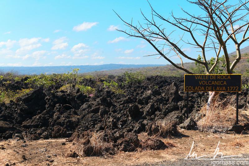 Lava from the volcanic eruption of the Masaya volcano in 1772, Masaya Volcano National Park