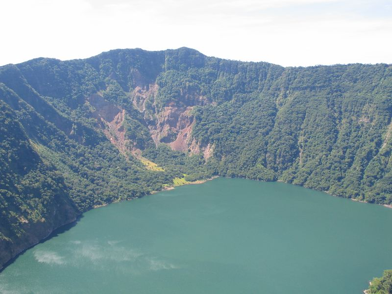 The lake in the crater.