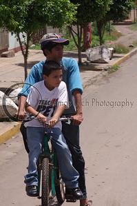 Looking both ways before we cross the street. Mom would be so proud! Granada, Nicaragua.