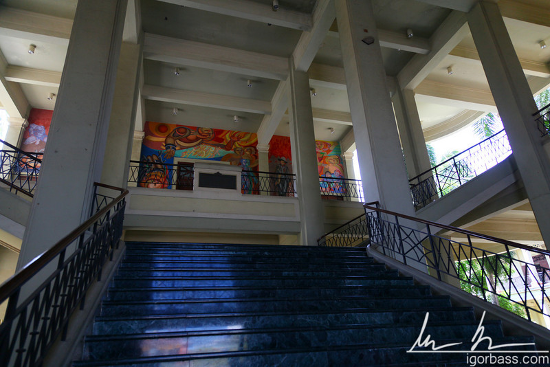 Staircase inside Palacio Nacional Managua which is currently the National Museum of Nicaragua