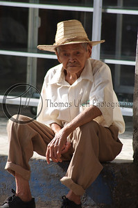 This fellow was just sitting on a curb watching traffic go by. Masaya, Nicaragua.
