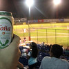 Cold beer at baseball game, just like home. But Granada blows NYC away in terms of number of food vendors (like the women who set up a table at field level). It seemed most locals went there for the food first, game second.