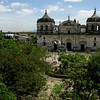 View of Parque Central and the imposing Catedral, from the rooftop of the museum.
