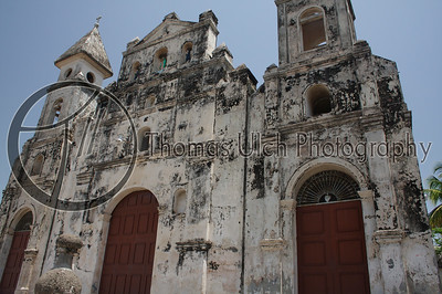 This is the Iglesia de la Merced (The Merced Church). This church is probably most famous for the fact that in the 1800's William Walker, the American pirate (my words not the history books) used the bell tower as a sniper nest to try and repel the forces of Chamorro, seriously damaging the church in the process. Granada, Nicaragua.