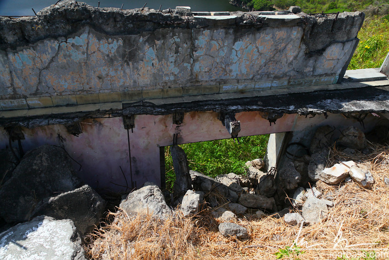 Ruins, possibly of the old Presidential Palace, Parque Histórico Nacional Loma de Tiscapa, Managua