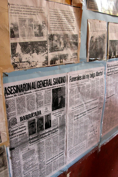 Inside El Museo de la Revolucion, documenting the Sandinista revolution.