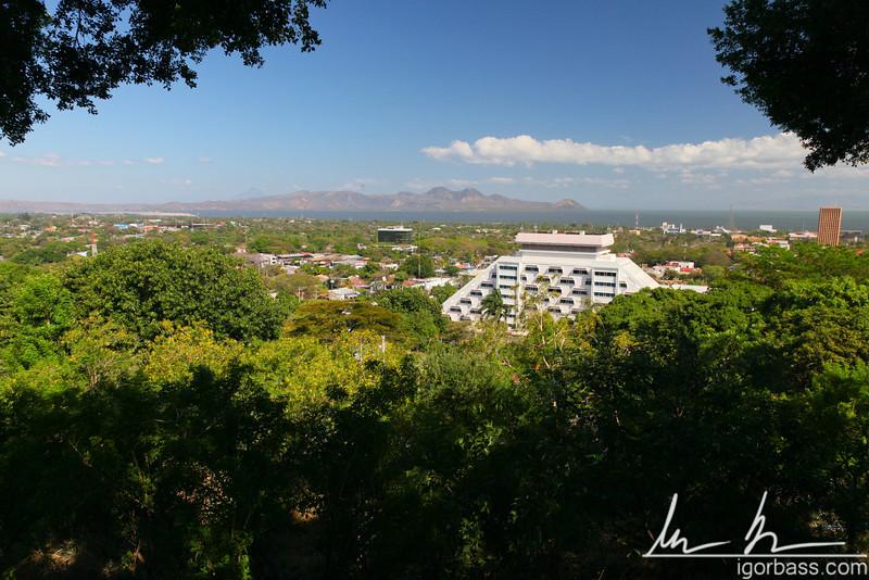 View from the Parque Histórico Nacional Loma de Tiscapa, in Managua