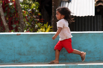 Little girl playing in a little village near Granada, Nicaragua