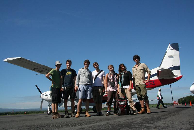 Vor dem Abflug in Managua, die Waspam-Reisegruppe.