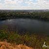 Crater lake at the top of Volcano Tiscapa, Parque Histórico Nacional Loma de Tiscapa, Managua