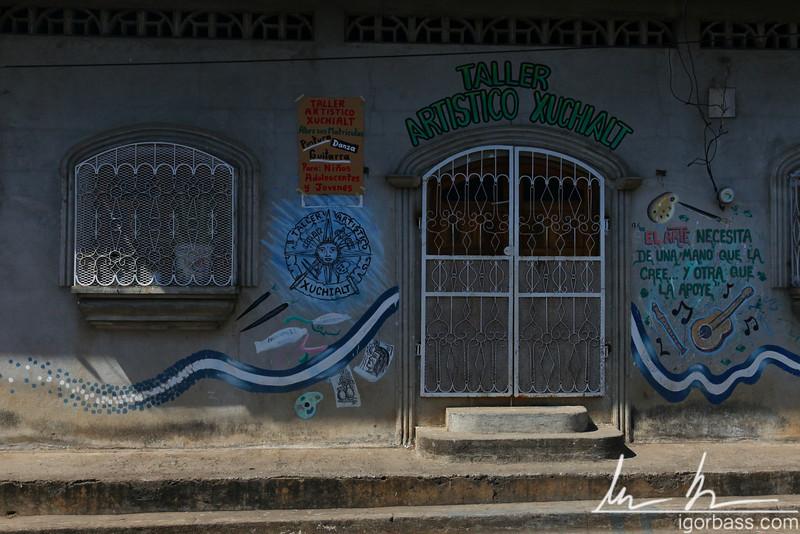Building facade, Leon, Nicaragua