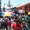 Busier Granada street, where local vendors set up