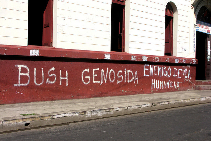 Graffiti outside of the museum. Despite this, um, unkind view and the U.S. involvement in their recent history, Nicaraguans are nothing but friendly to American travelers.
