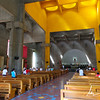 Inside Catedral de la Concepción, known as the New Cathedral, lit up by the cupola skylights, Managua