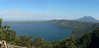 Panorama of Laguna Apoyo and Volcan Mombacho.  This photo was stitched together from two separate shots.