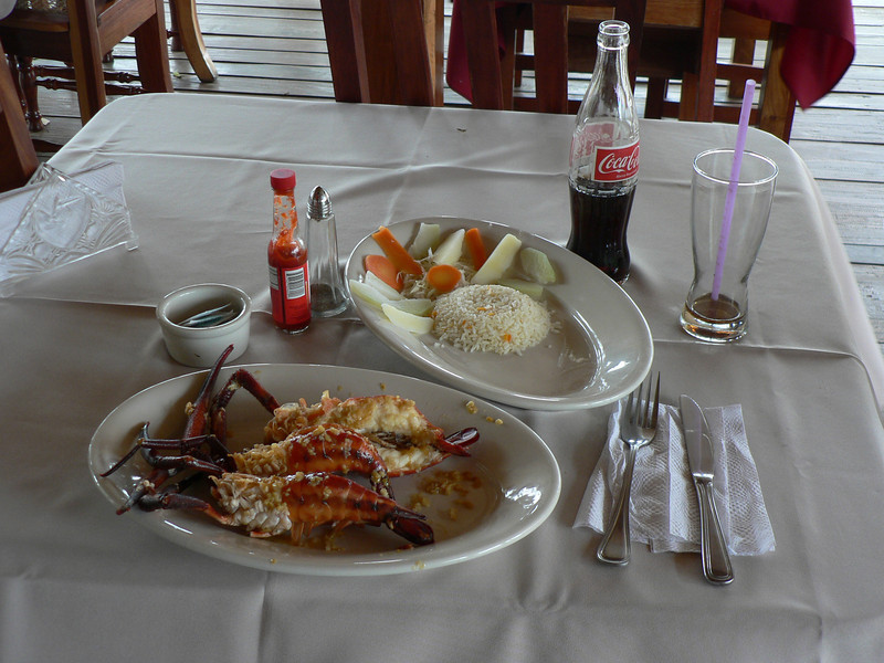 A fantastic lunch with the famous giant river shrimp as the treat.  I thought it was fantastic, as good as lobster, but different.