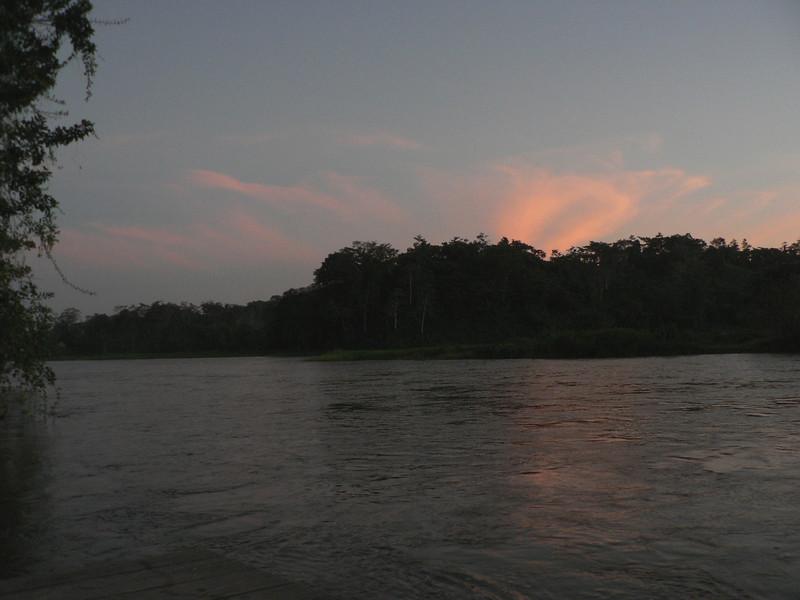 Sunset at the Sabalos Lodge.