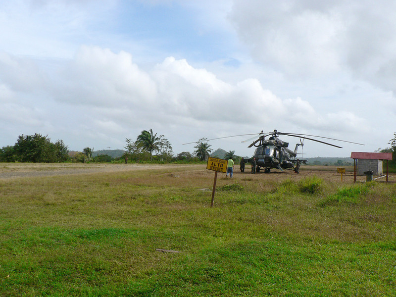 San Carlos Airport has a constant military presence.  The San Juan is entirely in Nicaragua, but there are disputes with Costa Rica.  Nicaraguans are rather paranoid about the need to defend it.