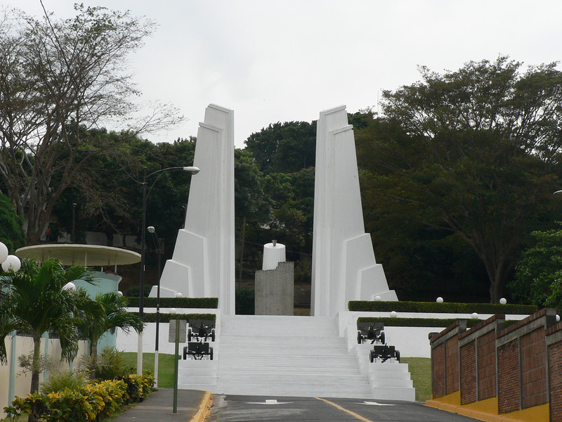 A half day in Managua.  The monument to the martyrs of the revolution, with the ethernal flame in the middle