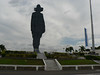 Sandino. Somoza may have killed him, but here he is,  He looks out over the city and over..