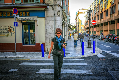 Sue on the streets of Nice, France