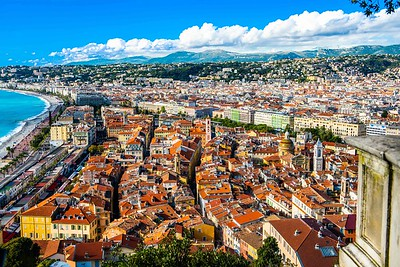 the Cote d'Azur from Castle Hill