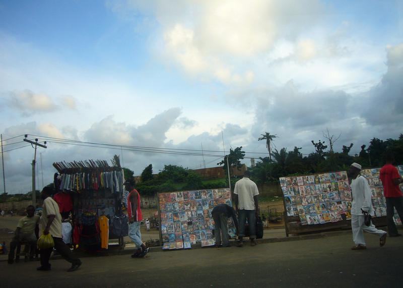Road-side sellers in Lagos - everywhere.