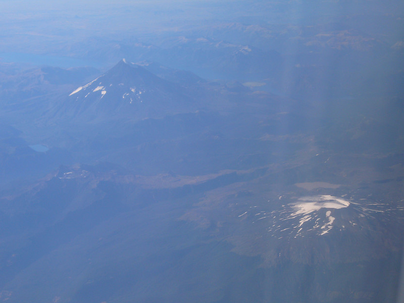 Volcanoes from the plane south