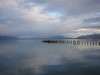 A non-windy millpond on the harbour in Puerto Natales.