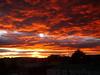 Sunrise from my bedroom window in Puerto Natales